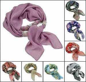 CHOOSE COLOR Silk Scarf with Beaded Elements Victoria 52x176+30cm
