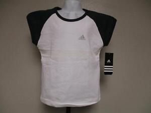 New-Minor Flaw White & Green Adidas Kids Girls Sized L(7)-XL(8) Shirt