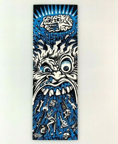 "Jimbo Phillips SICK Skateboard Sticker 6/"" blue Santa Cruz"