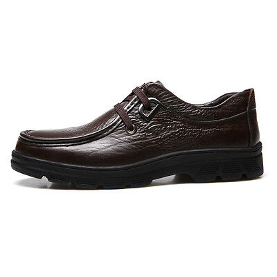 Men Work Business Oxford Leather Shoes Slip On Dress/Casual Loafers Father Shoes