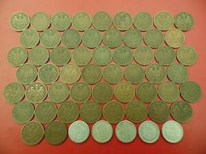 Details about BULK BASE METAL COINS GERMANY EMPIRE 1 PFENNIG 1917-1901  (REF:21) SEE BELOW