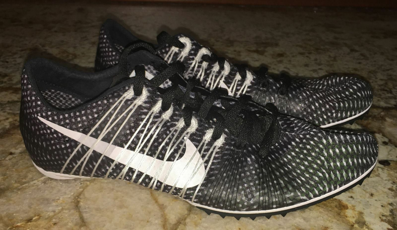 NIKE Zoom Victory 2 Black White White White Mid Distance Track Spikes shoes NEW Mens 7.5 10 efd7ca