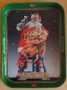 Coca Cola Babbo Natale.Vassoio Coca Cola Merry Christmas Babbo Natale Santa Claus Anni 90 Ebay