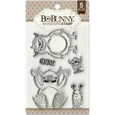 MONSTERS Kids Cute Clear Unmounted Rubber Stamps Set BOBUNNY 12105439 New