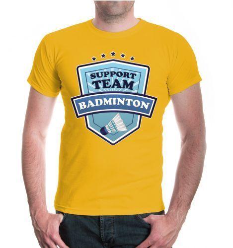 Herren Unisex Kurzarm Shirt Badminton-Support Team Federball Fanshirt Ballsport