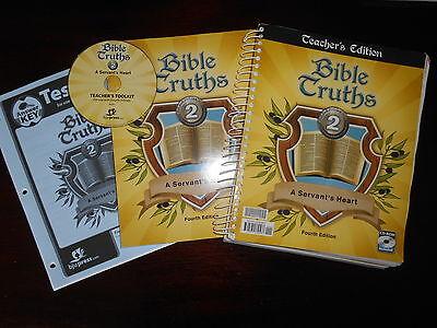 Bob Jones Bible Truths 2 Fourth Edition Teacher guide CD and workbook homeschool