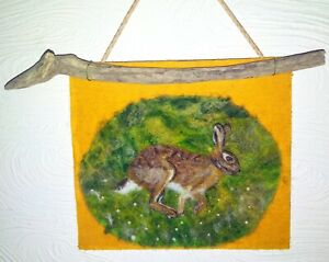 March-Hare-Needle-Felted-Painting