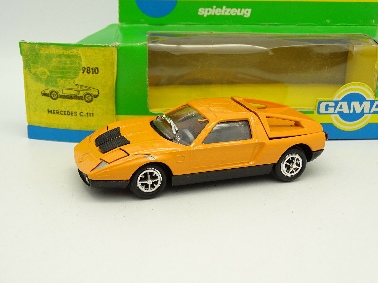 Gama Mini 1 43 - Mercedes C111 Orange B