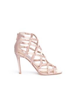 45a79ceb0894 NIB Jimmy Choo  Violet  100mm Knotted Pink (Dusty Rose) Satin ...