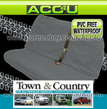 Town /& Country Waterproof GREY Multi Fit Car Rear LARGE Seat Cover Protector