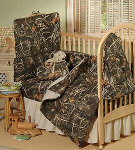 Image Is Loading Realtree Max 4 Camo Baby Crib Bedding Sheet
