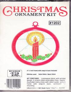 Craft Books: #842 Christmas Ornament Kit Cross Stitch Pattern