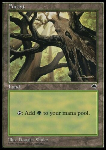WALD *Basic Land Mana Deck Schwarzrandig Black Bordered* MTG 20x FOREST