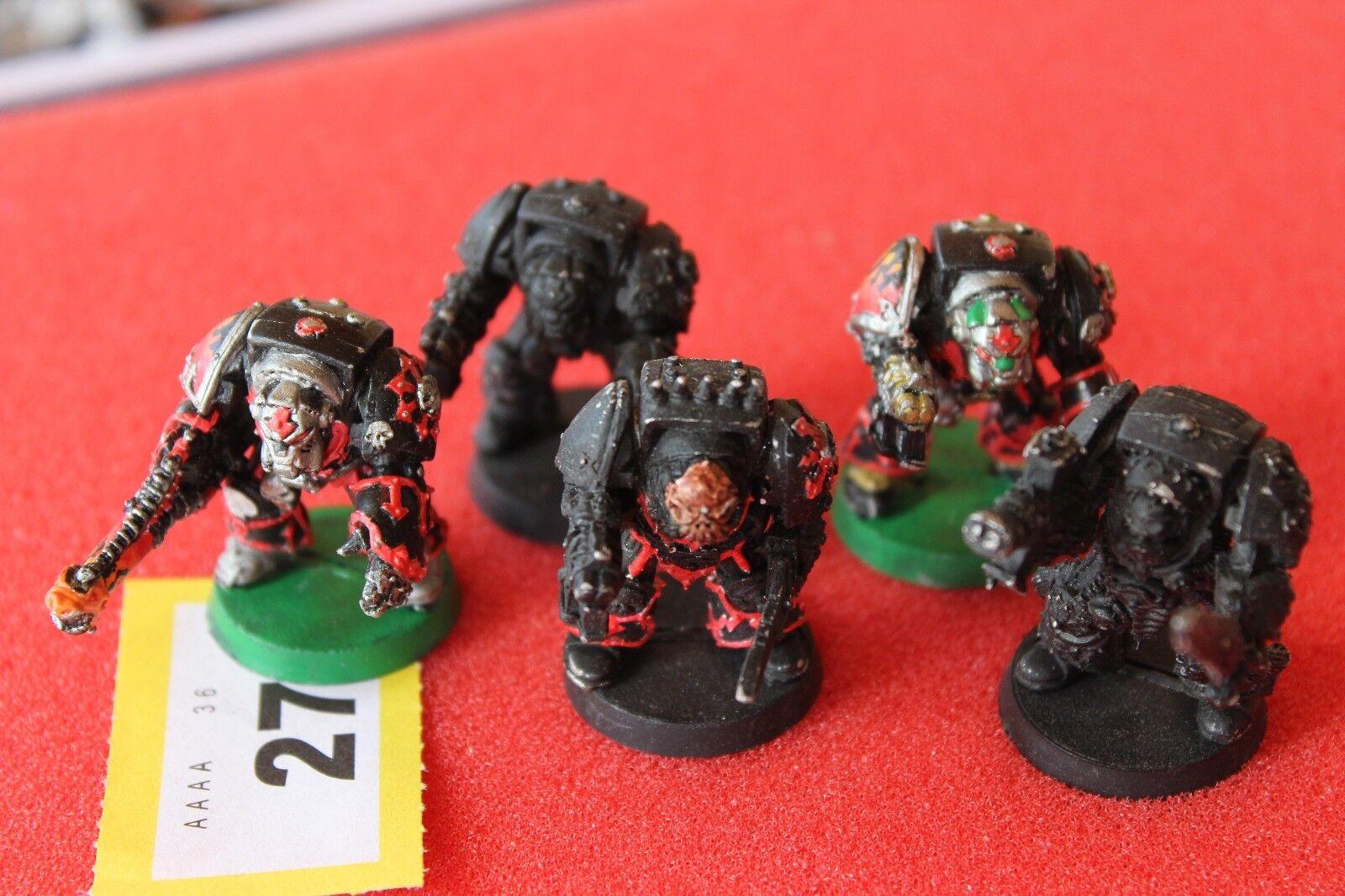 Juegos taller Warhammer 40k Rogue Trader caos marines espaciales Terminadores Squad
