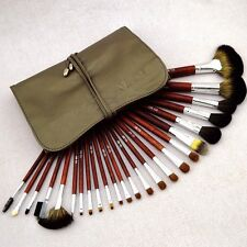 24PCS Professional Natural Goat Hair Makeup Brush Set Soft Cosmetic Brushes Kit