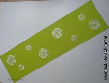 STICKEREI Tischdecke FRÜHLING Tischläufer BLUMEN Tischdeckchen SOMMER 40x140 grü