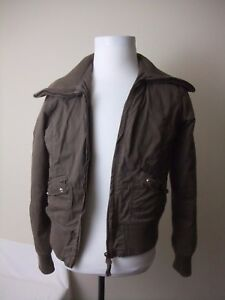 20178718f Vintage American Eagle Outfitters Women's Brown Bomber Jacket Size ...