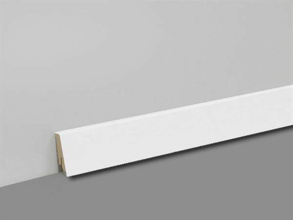 Sockelleiste weiß 40mm Cube  K40C Fußleiste Vinyl Laminat Parkett Clips Ecken