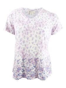 Style-amp-Co-Women-039-s-Plus-Size-Cotton-Printed-T-Shirt