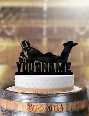 Marvelous Personalized Ant Man Cool Birthday Cake Topper Ebay Personalised Birthday Cards Paralily Jamesorg