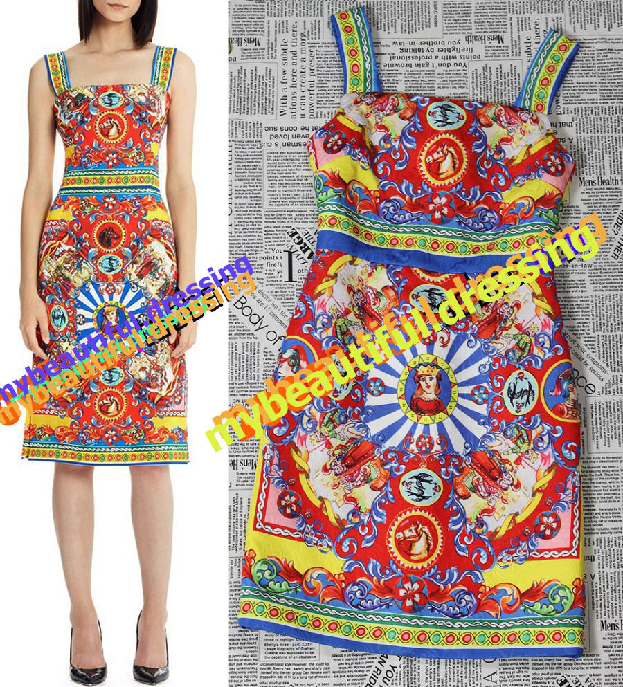 MW008236 - ELEGANT MULTICOLOUR PRINT TANK DRESS