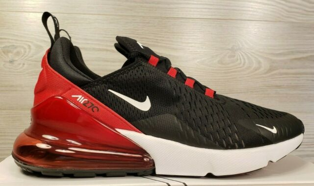 detailed look 5173b 512b1 Nike Air Max 270 BRED Black Red White Running Training AH8050-022 Pick Sz