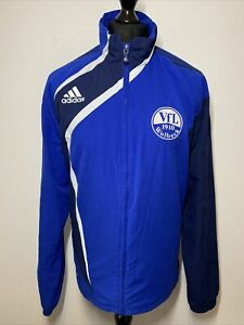 Adidas VFL Wolbeck 1910 German Football Soccer Blue Windbreaker Jacket Coat XL
