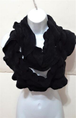 Fashion Knit Crochet Ruffle Wavy Curly Style Infinity Loop Scarf NEW Long