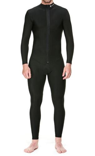 Proskins Homme Moto Noir Compression Sous-vêtement One Piece Costume-Couche de base WZ