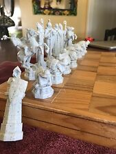 """1 Complete Set Of Chess Pieces, Plastic.  4"""" King."""