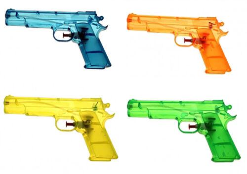 Großhandel & Sonderposten Wasserpistolen Klassiker transparent 20 cm Wasserspritzen Spritzpistolen