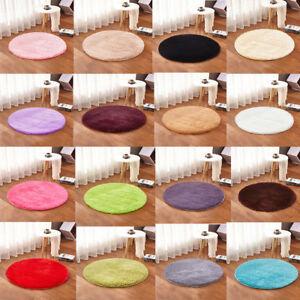 Fluffy Round Rug Carpet Circles Non Slip Rugs Washable ...