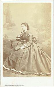 Photo-cdv-Levitsky-Vicomtesse-de-Grailly-nee-de-Bonnemains-vers-1863