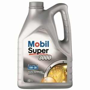 NEW-MOBIL-ENGINE-OIL-SUPER-3000-X1-FORMULA-FE-5W-30-5-LITRE-151176-BEST-QUALITY