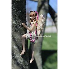 Miniature Tree Hugger Izzie  w metal hanger #116 Fairy Garden Dollhouse