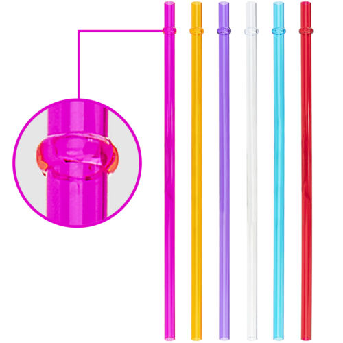 12 16 Set of 6 Fits 10 and 20oz Tumblers Acrylic Colored Straws