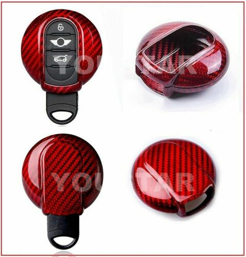 MINI GEN 3 KEY FOB RED CARBON FIBER COVER F54 F55 F56 F57 F60