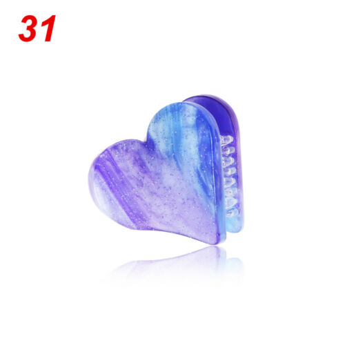 Headwear Grain Hairpins Mini Hair Clip Heart-shaped Hair Claw Natural Stones