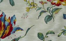 PIERRE FREY Soline Printemps II Floral Cotton Viscose Red Blue Remnant New