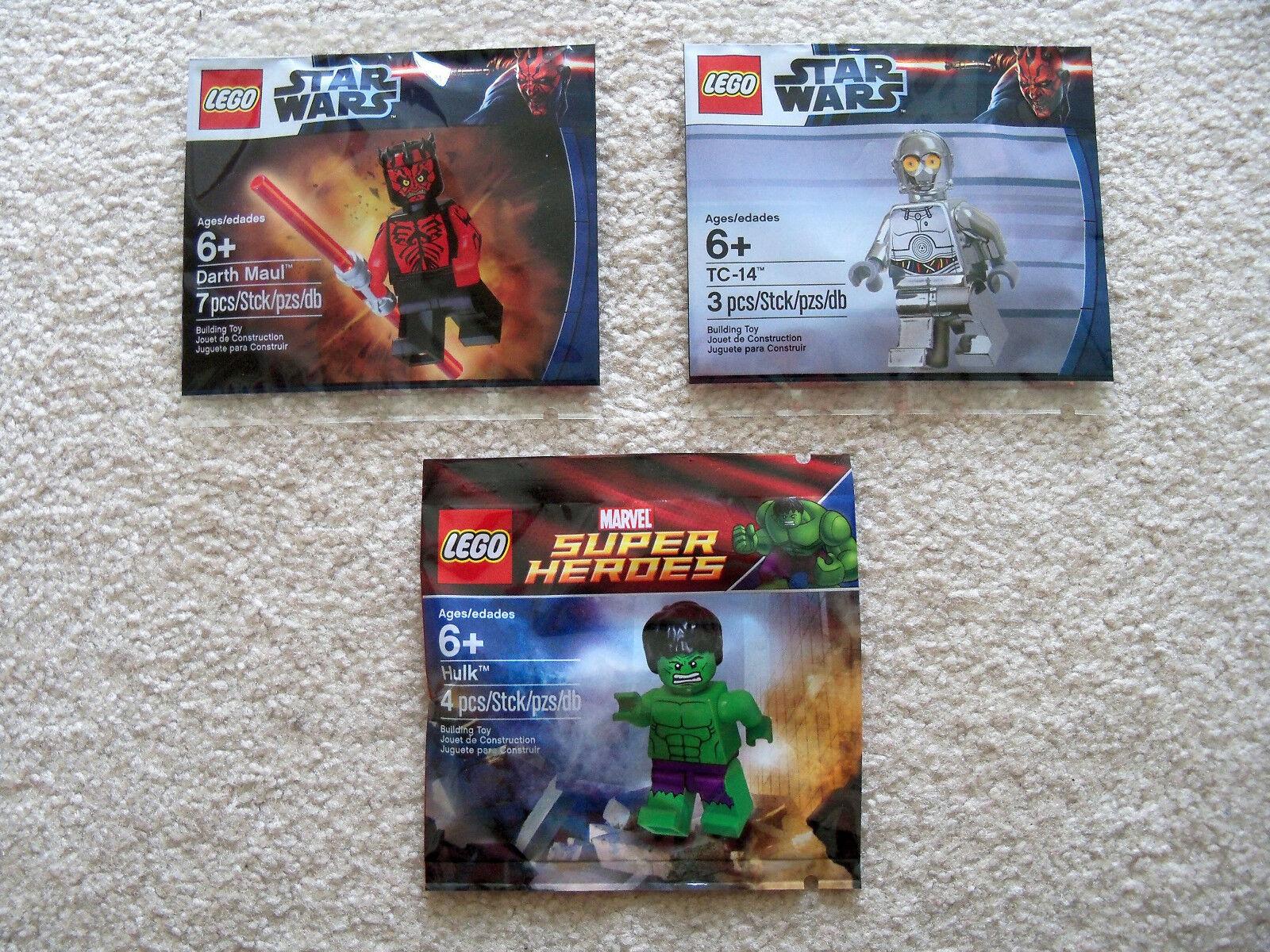 LEGO Star Wars - Darth Maul 5000062 TC-14 5000063 & Hulk 5000022 - New & Sealed