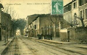 CPA-11-CUXAC-D-039-AUDE-MAIRIE-AVENUE-DE-NARBONNE-animee-cpa-glacee