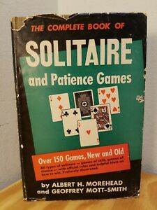 1949-The-Complete-Book-Of-Solitaire-And-Patience-Games-Albert-Morehead-HC-DJ