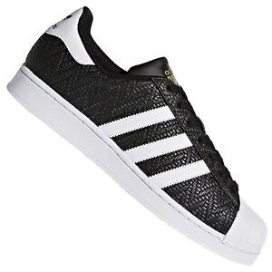 Details zu adidas Originals Superstar Woven Weave Pack Sneaker Schuhe CP9758 Schwarz Weiß