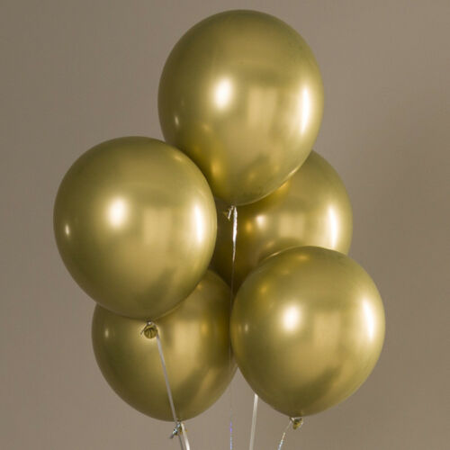 10Pcs Metal Latex Balloons Birthday Wedding Baby Shower Party Supplies Decor