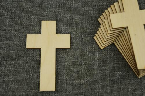 10 Stk. Kreuz aus Holz Blank Basteln Dekoration Wohnen Malen Aufhängen /NX22/