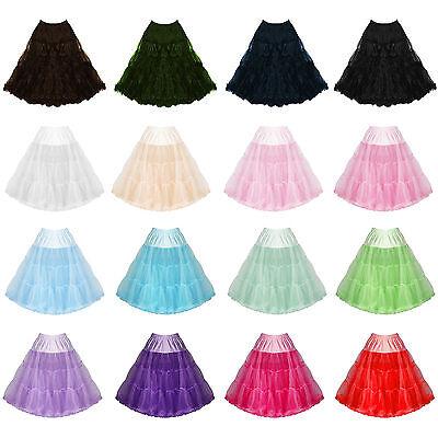 "Womens Ladies New 25 - 27"" Hell Bunny Flared Party Prom Vintage 50s Petticoat Neueste Technik"