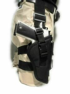 TACTICAL-DROP-LEG-THIGH-HOLSTER-WITH-MAGAZINE-CARRIE-FOR-COLT-45-1911-W-5-034-BBL
