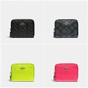 New-Coach-Small-Zip-Around-Wallet-With-Gift-Box-F31600-F38709