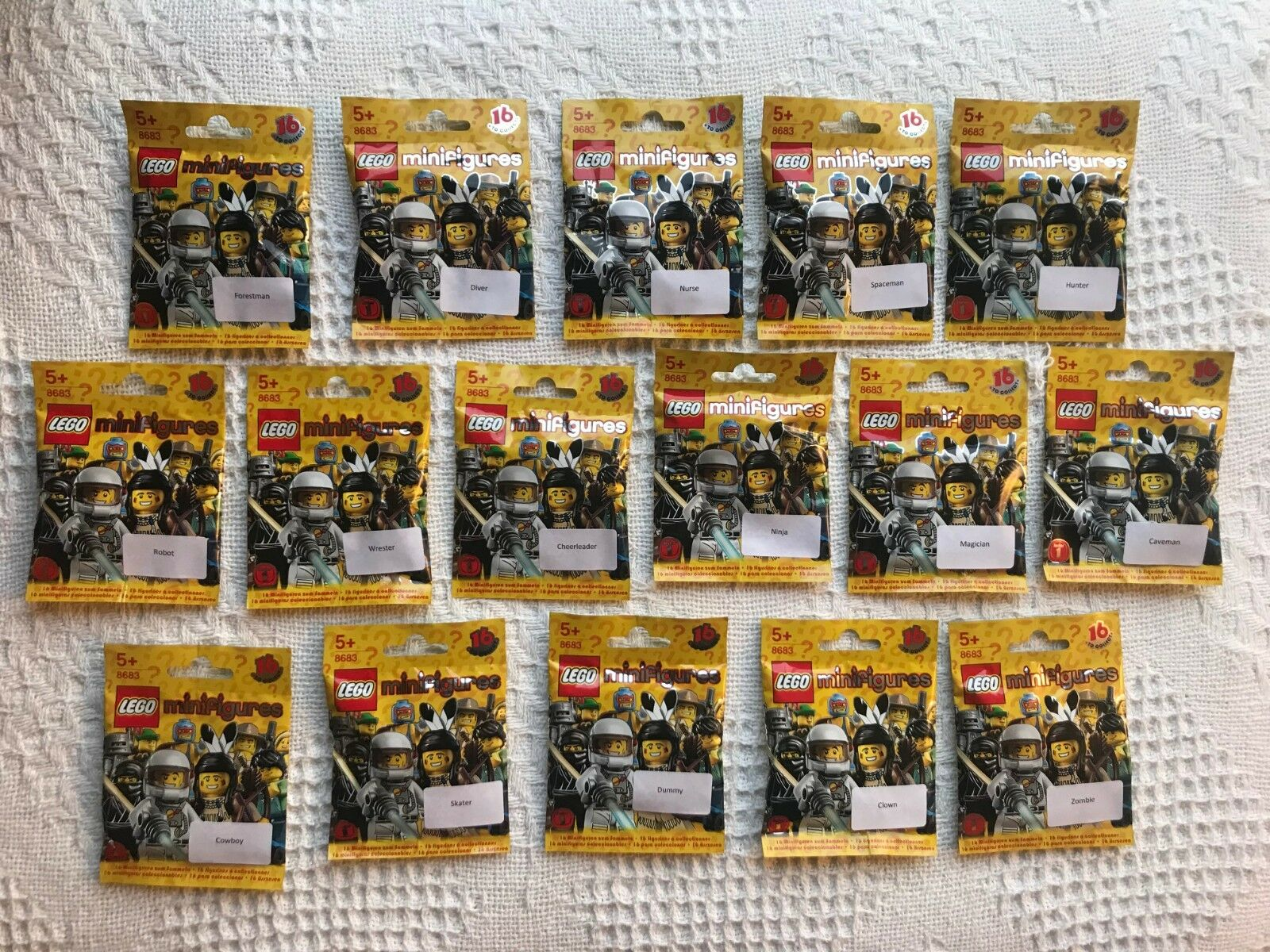 LEGO 8683 Collectable Minifigures Series 1 Complete Set - Brand New Sealed