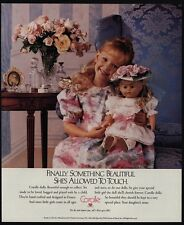 1989 COROLLE Doll - Something Beautiful She's Allowed To Touch - VINTAGE AD